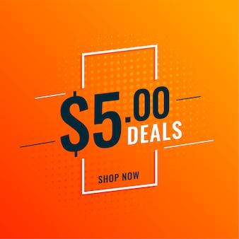 Banner de ofertas y ofertas de dólares