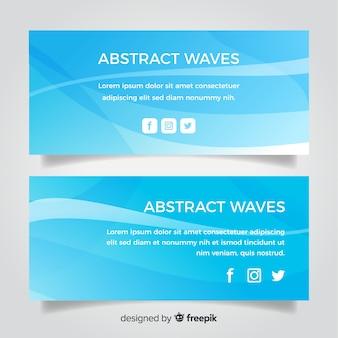 Banner de onda abstracto