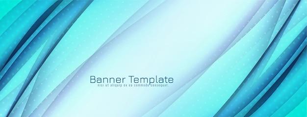 Banner de onda azul decorativo abstracto