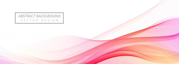 Banner de onda colorida que fluye moderna sobre fondo blanco
