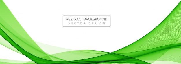 Banner de onda con estilo verde moderno