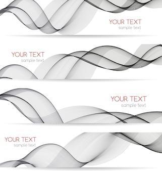 Banner de onda transparente abstracta para diseño