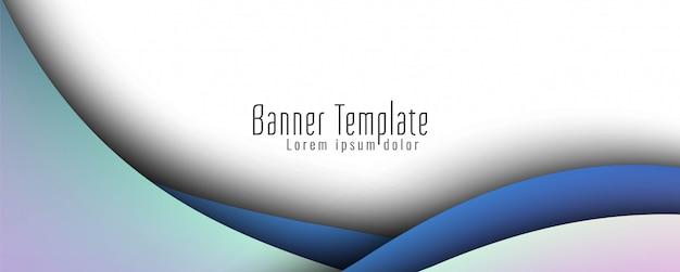 Banner ondulado abstracto