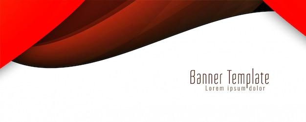 Banner ondulado moderno con estilo