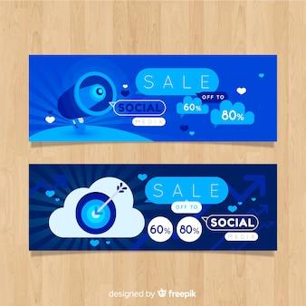 Banner online de compras para redes sociales