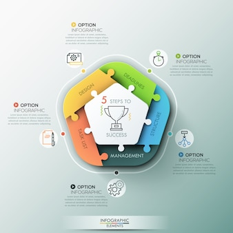 Banner de opciones de infografía moderna.