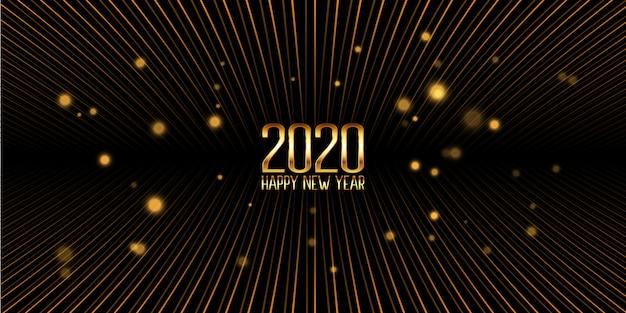 Banner de oro feliz año nuevo