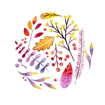 Banner otoño acuarela