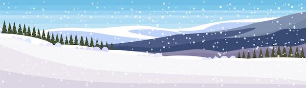 Banner de paisaje de invierno