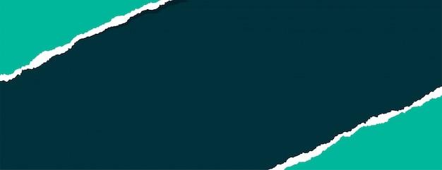 Banner de papel rasgado de chatarra rasgada con espacio de texto