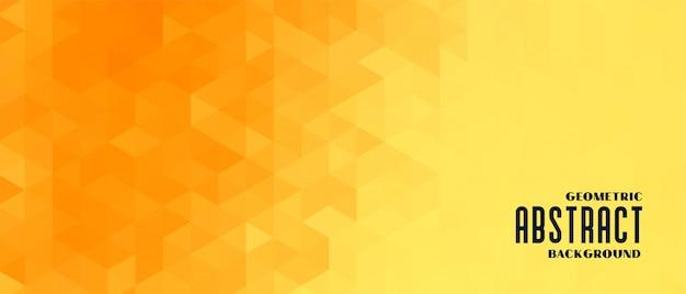 Banner de patrón geométrico amarillo abstracto