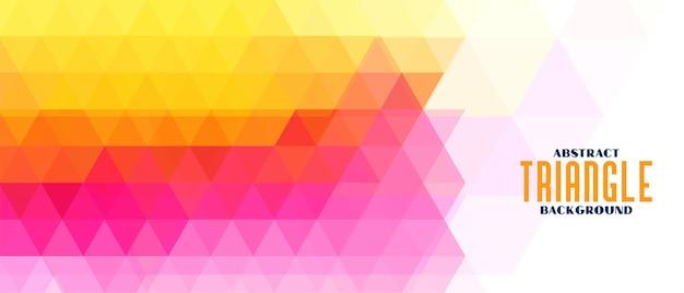 Banner de patrón geométrico triángulo colorido