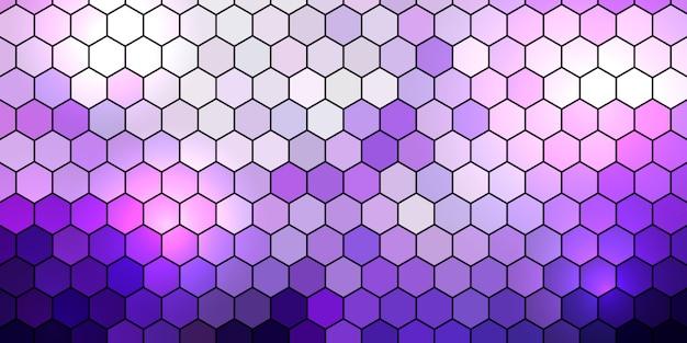Banner con patrón hexagonal