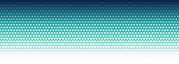 Banner de patrón de semitono colorido abstracto