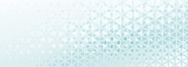 Banner de patrón de triángulo abstracto con tono azul y blanco