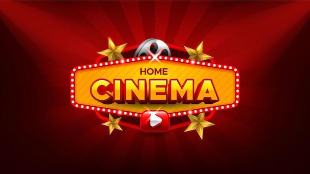 Banner de películas y entretenimiento en línea.