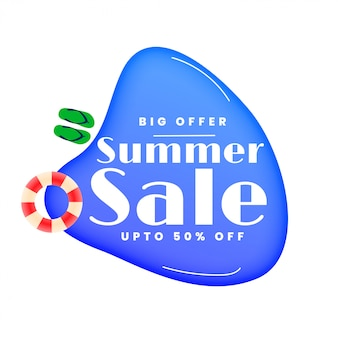 Banner de piscina de venta de verano con estilo