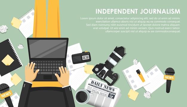Banner plano de periodismo independiente
