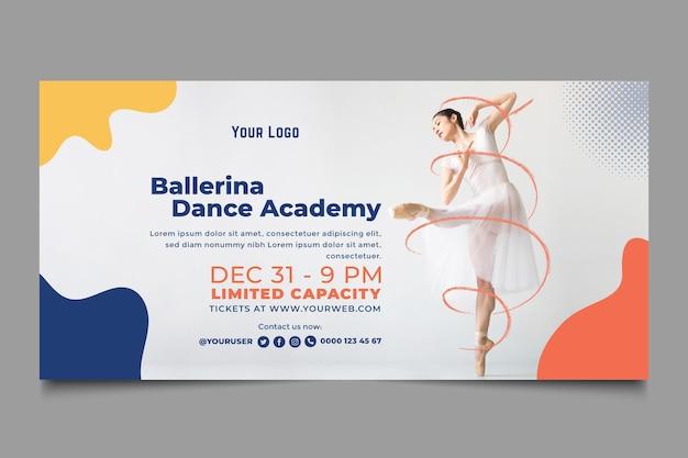 Banner de plantilla de academia de baile