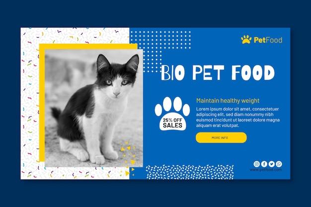 Banner de plantilla de alimentos para animales