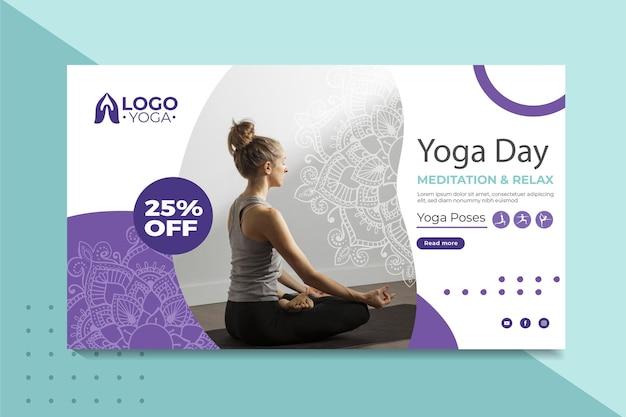Banner de plantilla de clase de yoga
