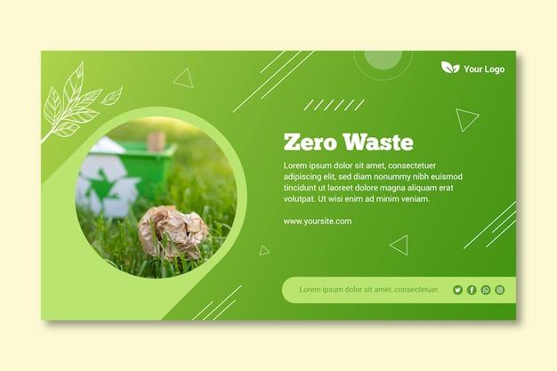 Banner de plantilla de desperdicio cero