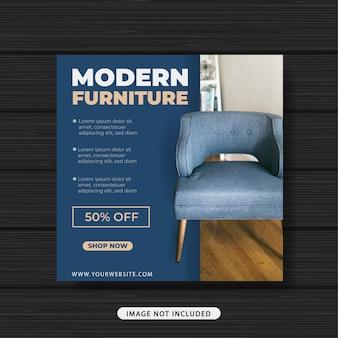 Banner de plantilla de publicación de redes sociales de promoción de venta de muebles modernos