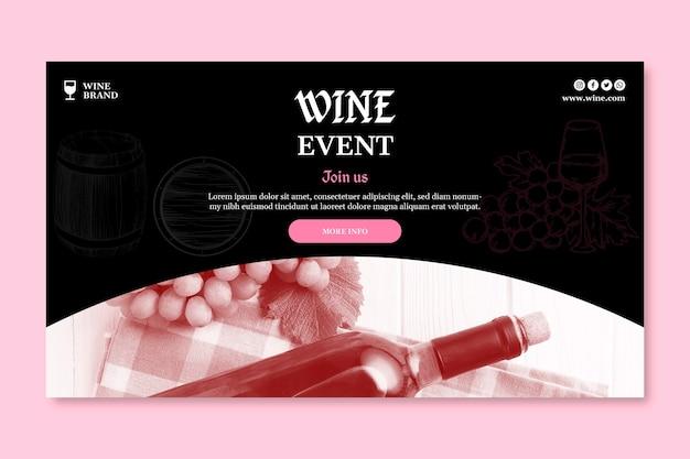 Banner de plantilla de tienda de vinos