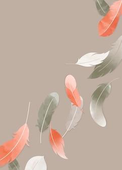 Banner de plumas flotantes