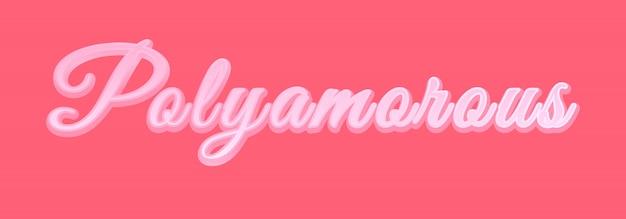 Banner de poliamor rosa.