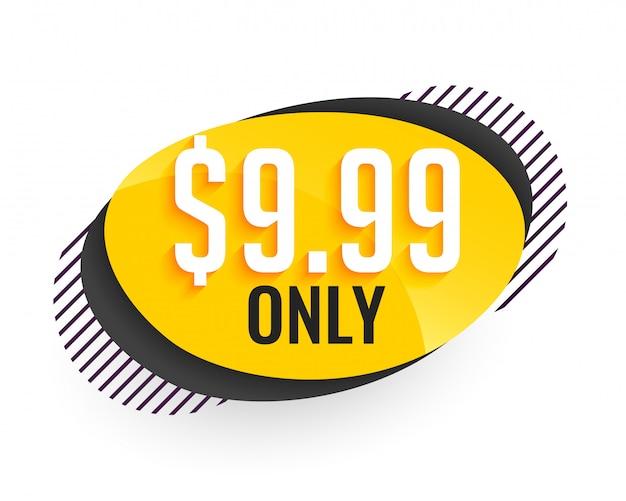 Banner de precio de oferta en estilo moderno