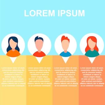 Banner de presentación con información del personal
