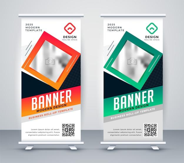 Banner de presentación de resumen de standee moderno