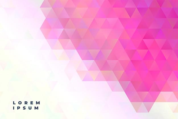 Banner de presentación de triángulos abstractos