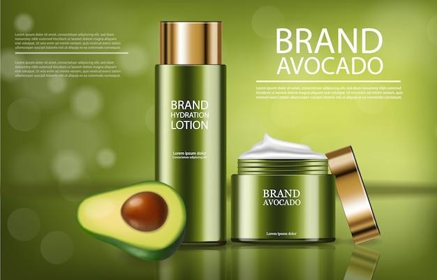 Banner de producto de crema de aguacate
