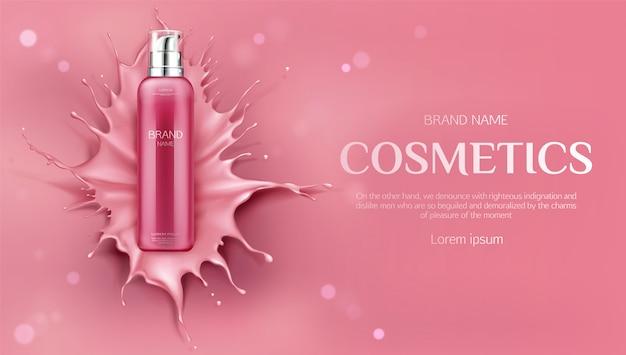 Banner de productos de belleza para el cuidado de la piel