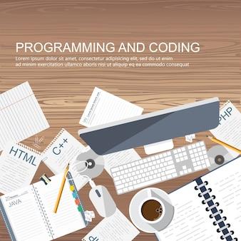 Banner de programación y codificación