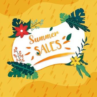 Banner de promoción de descuento de ventas de verano de medios sociales
