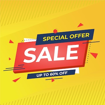 Banner de promoción de oferta especial abstracta