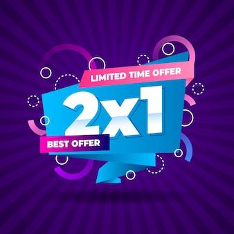 Banner de promoción de oferta especial por tiempo limitado