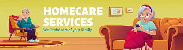 Banner de promoción de servicios de atención domiciliaria.