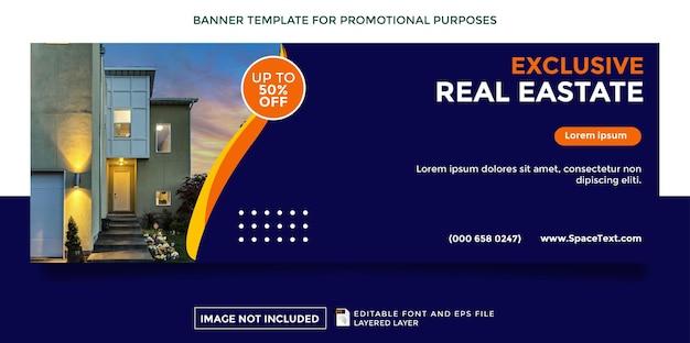Banner de promoción de tema inmobiliario exclusivo