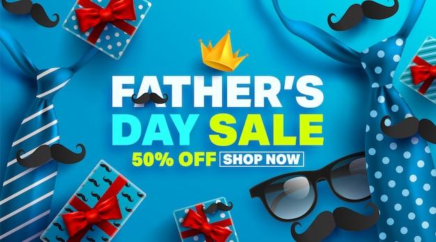 Banner de promoción de venta del día del padre