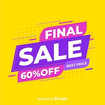 Banner de promoción de venta final abstracto