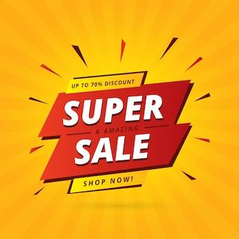 Banner de promoción de ventas abstractas