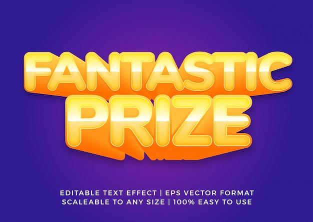 Banner promocional efecto de texto de decoración 3d