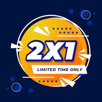 Banner promocional de oferta solo por tiempo limitado creativo