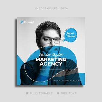 Banner de publicación de agencia de marketing de redes sociales digitales