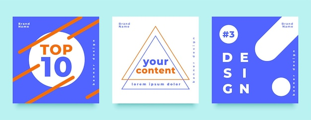 Banner de publicación de alimentación de redes sociales de estilo minimalista