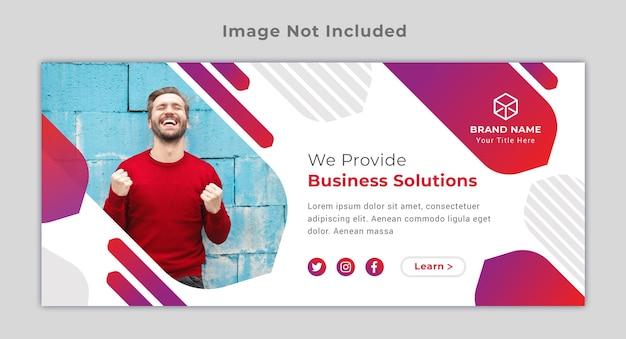 Banner de publicación de facebook de redes sociales de portada de negocios